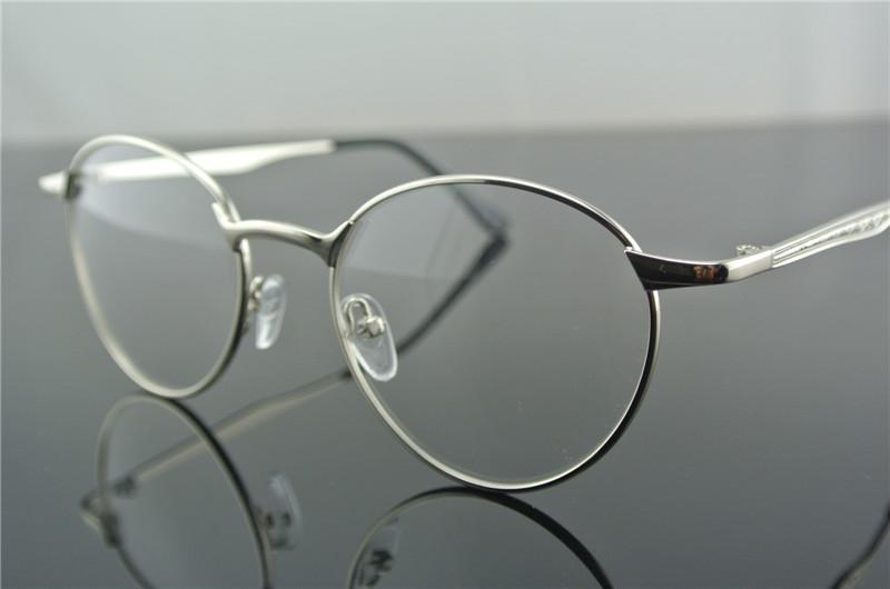 Vintage Eyeglass Frames oval Glasses Black Gray Coffee ...