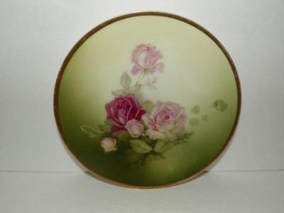 Thomas Sevres Bavaria Mentone Hand Painted Rose Plate 6 Shabby Chic