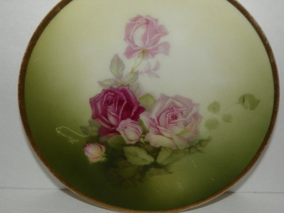 Thomas Sevres Bavaria Mentone Hand Painted Rose Plate 6 Shabby Chic