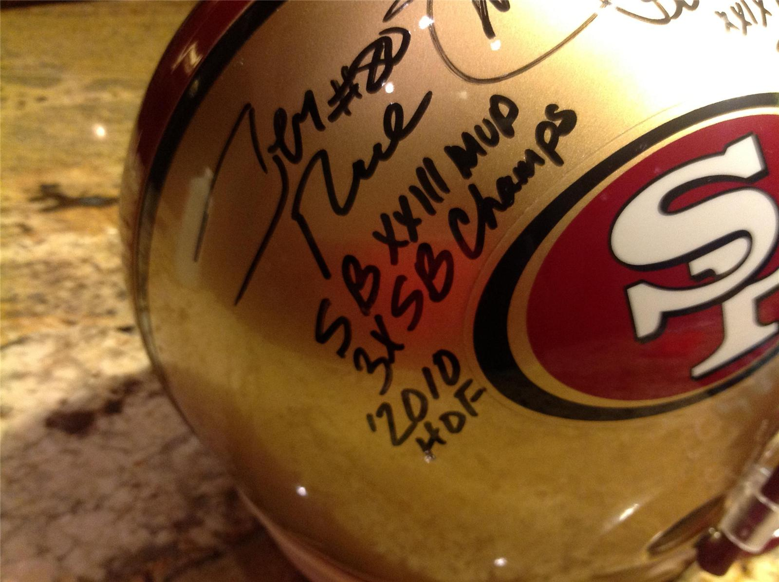 Steve Young Jerry Rice Dual Signed Full Size 49ers Helmet GTSM