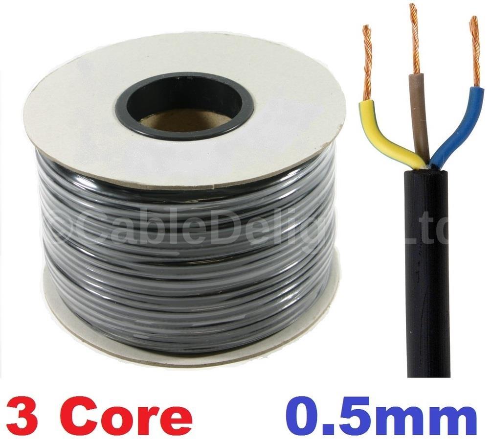 Three Core Flat Cables : Core mm amp pvc flexible cable m round flex