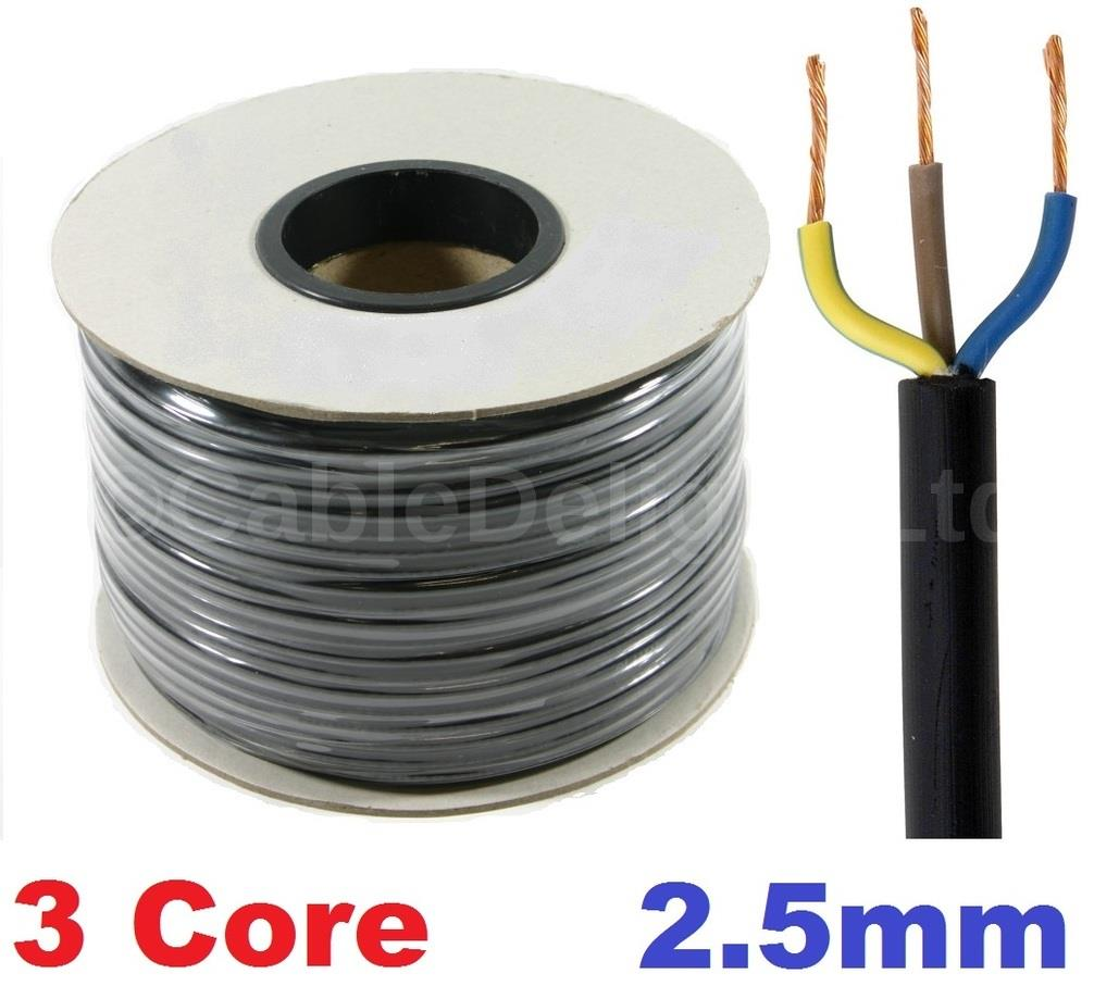 2 5 Pvc Cable : Core mm amp pvc flexible cable m round flex