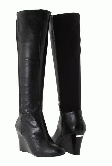 michael kors bromley womens black wedge boots shoes msrp