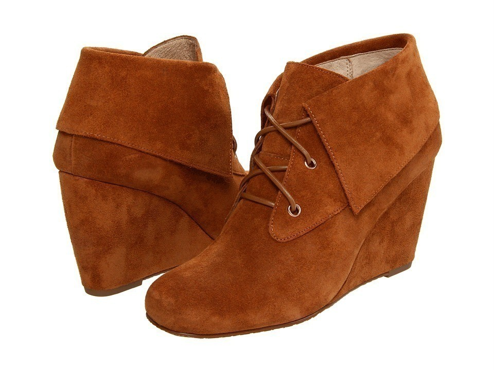 michael kors womens boots luggage wedge suede shoes