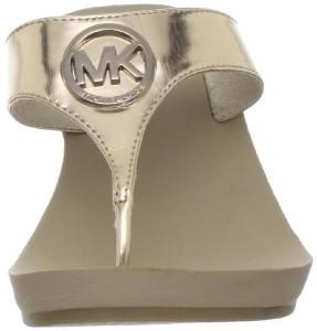 Michael Kors Warren Sandal Womens Wedge Thong Flip Flop Heel Multiple