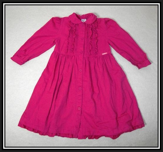 Girls-OSHKOSH-Size-5-Vintage-Pink-Cotton-Dress-Excellent-Condition