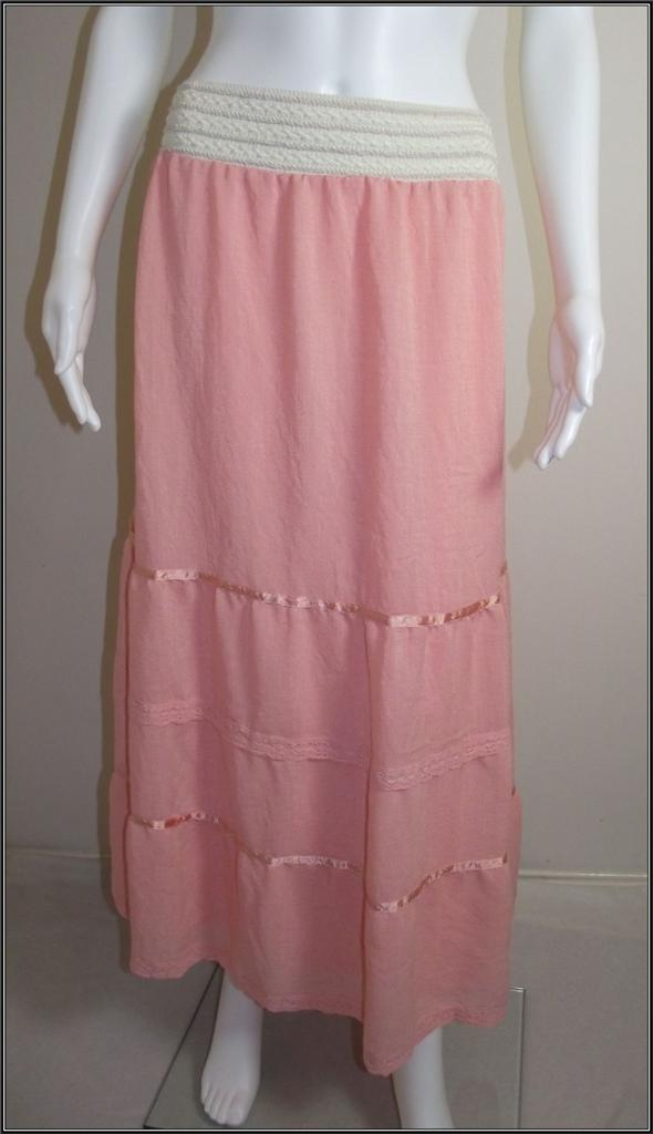 Ladies-CROSSROADS-Size-20-22-Peach-Summer-Maxi-Skirt-BNWT-Beautiful