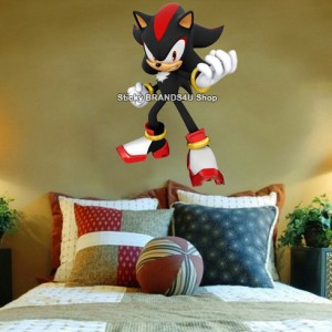 Xxl shadow the hedgehog sonic decal removable wall sticker video game 90x60cm t ebay - Sonic wall decals ...