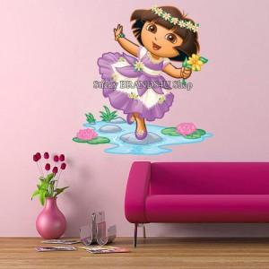 Choose size dora wall stickers mural room decor art vinyl for Dora wall mural