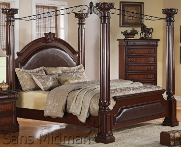 empire 5 piece bedroom set cal king canopy bed 2 nightstands dresser