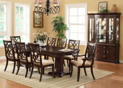 9 Pc Espresso Katelyn Formal Dining Set W 6 Chairs 2