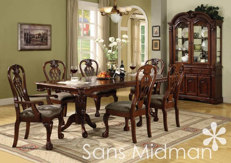 formal dining room set brunswick table w 6 chairs china hutch buffet