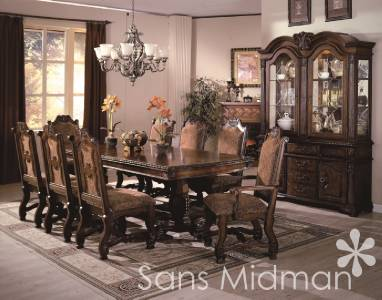 NEW Furniture Formal 9 piece Renae Dining Room Set Table