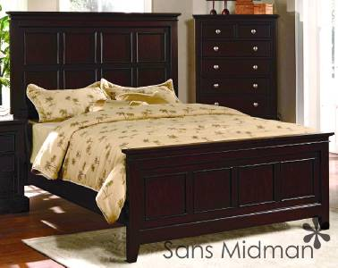 Furniture new 3 piece landon collection espresso queen for 3 piece queen size bedroom set
