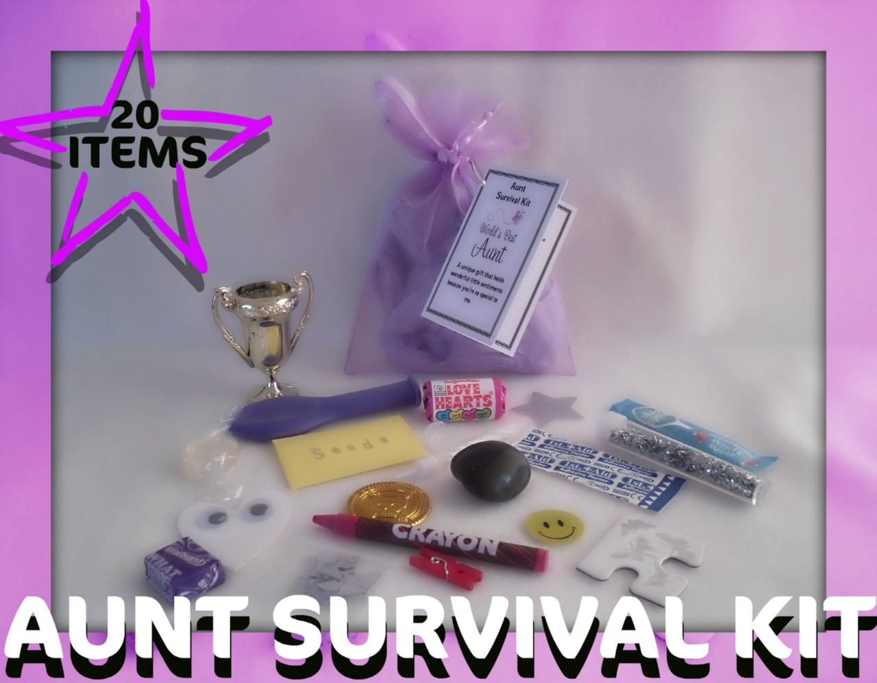 Aunt Novelty Survival Kit An Unusual Fun Novelty Gift for ...