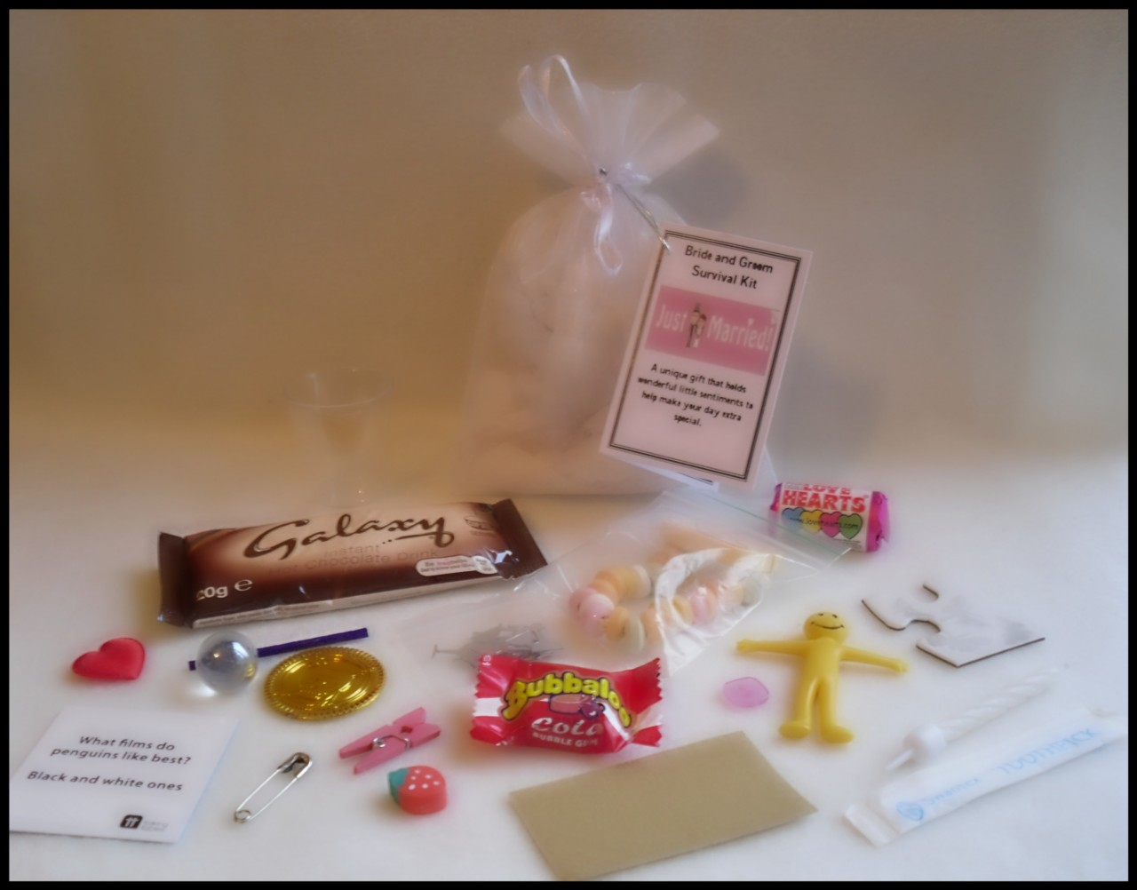 Quirky Wedding Gifts For Bride And Groom : ... about Bride and Groom Novelty Survival Kit. An Unusual Wedding Gift