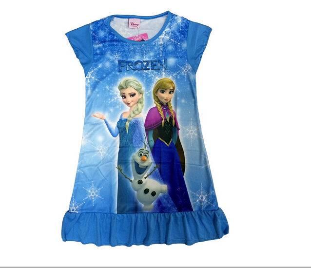Sales New-Disney-Frozen-Princess-Elsa-Anna-Girls Kids-Pyjama-Nightie-Dress-3-10Y