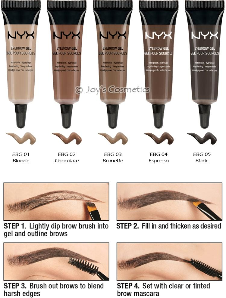 1 Nyx Waterproof Eyebrow Gel Quot Pick Your 1 Color Quot Joy S