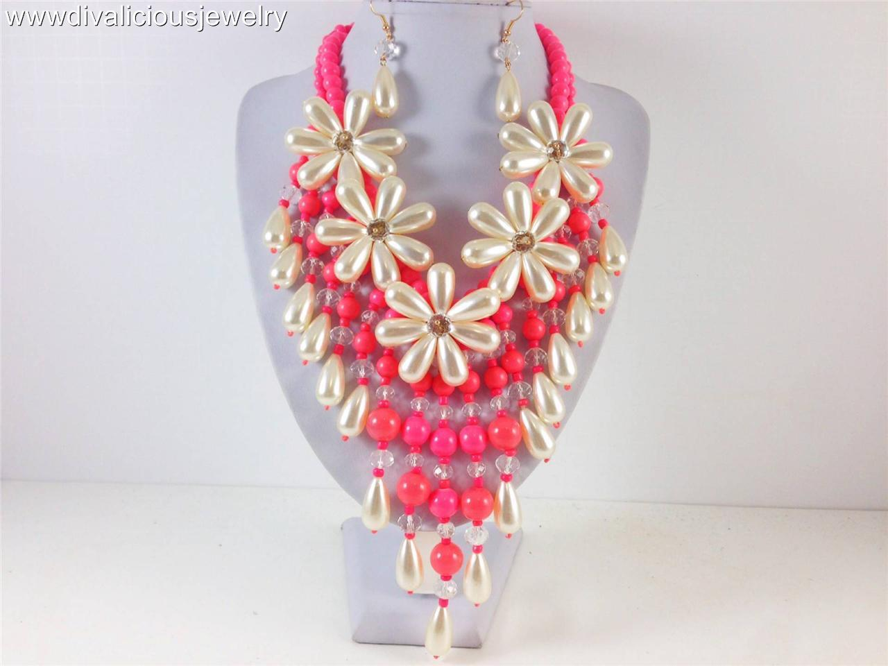 Ravishing Flower Diva Necklace Set - 3 Colors