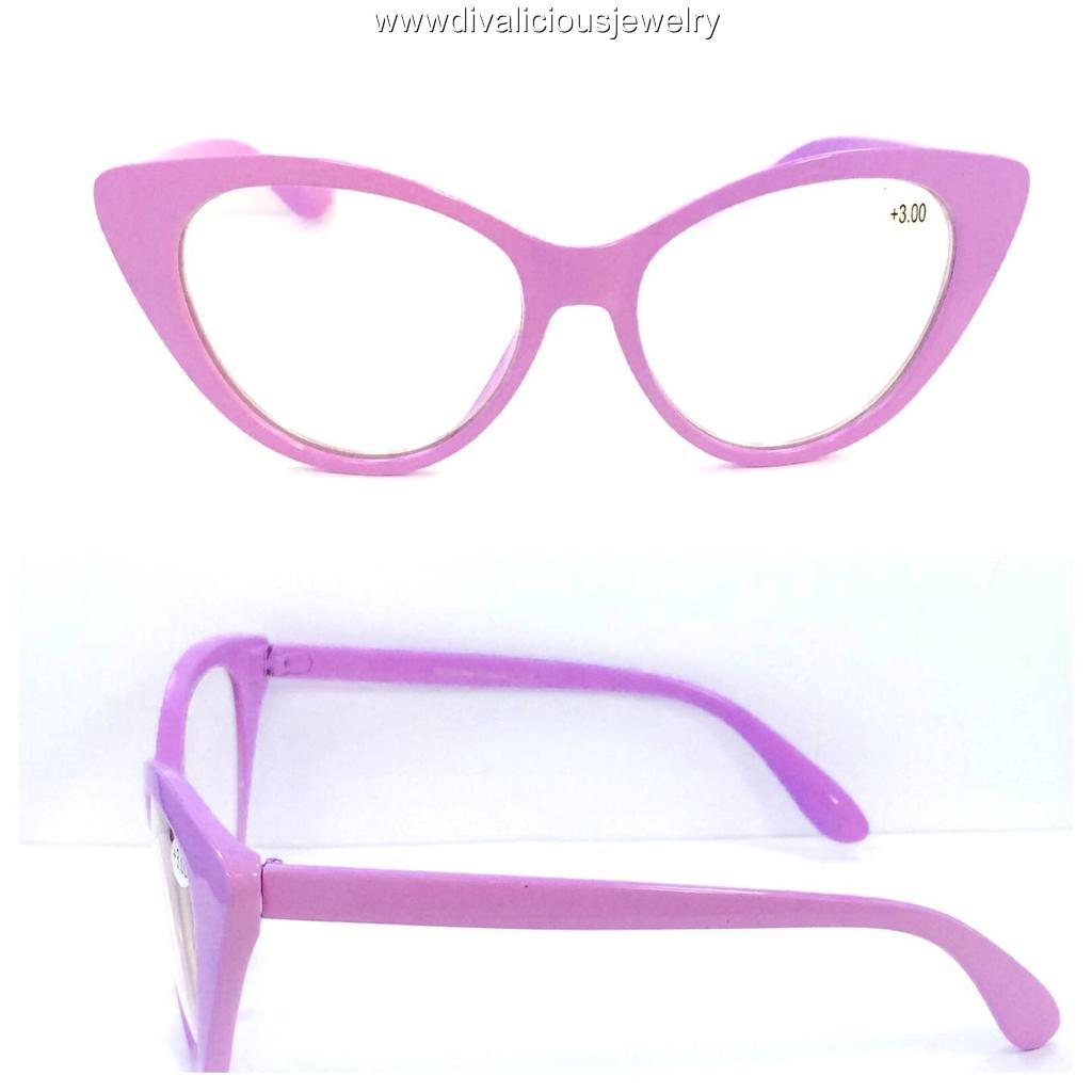 Large Framed Cat Eye Reading Glasses : Big Cat Eye Diva Readers Reading Glasses - 5 Colors eBay