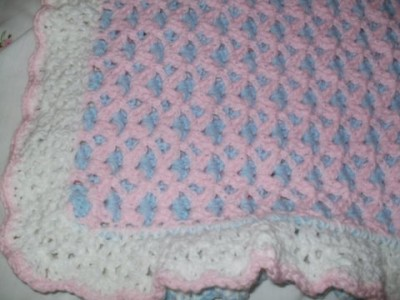 Double Sided Crochet Baby Blanket Pattern : No 76 Double Sided Springtime Blanket Crochet Pattern eBay