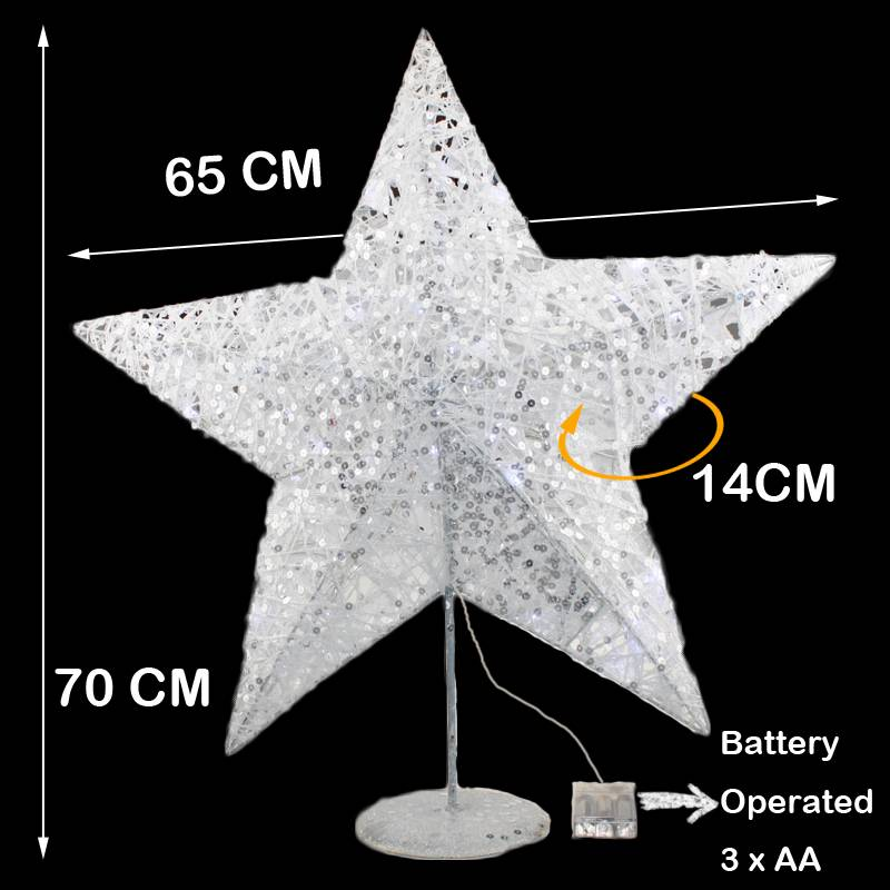 New large 3d glitter star xmas 40 led light christmas for A href text decoration