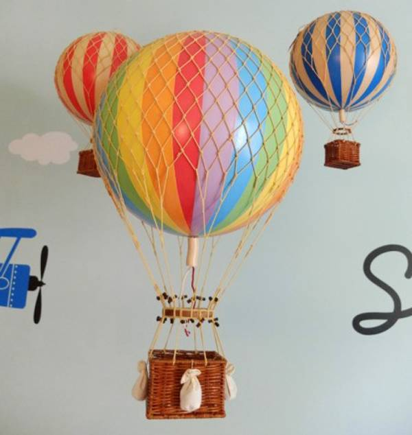 18 Cm Authentic Models Hot Air Balloon Set 4