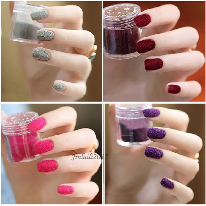 Как сделать посыпку на ногти