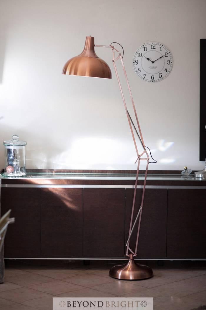 X large designer copper pixar floor lamp light 1 9m modern for Copper floor lamp australia