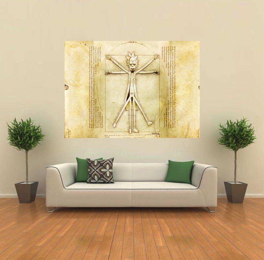 Rick and Morty -Vitruvian Man- GIANT WALL POSTER PRINT | Sizes A4-A0 ...