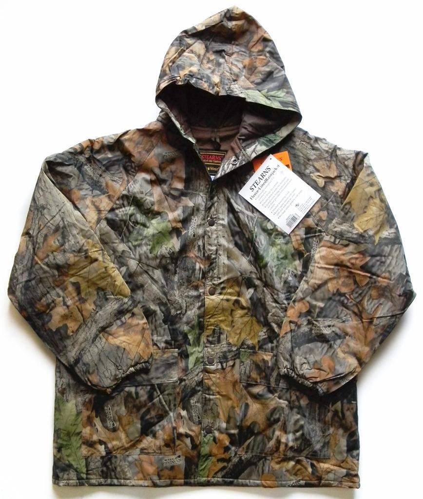 New stearns fleece lined rain jacket coat realtree for Realtree camo flannel shirt