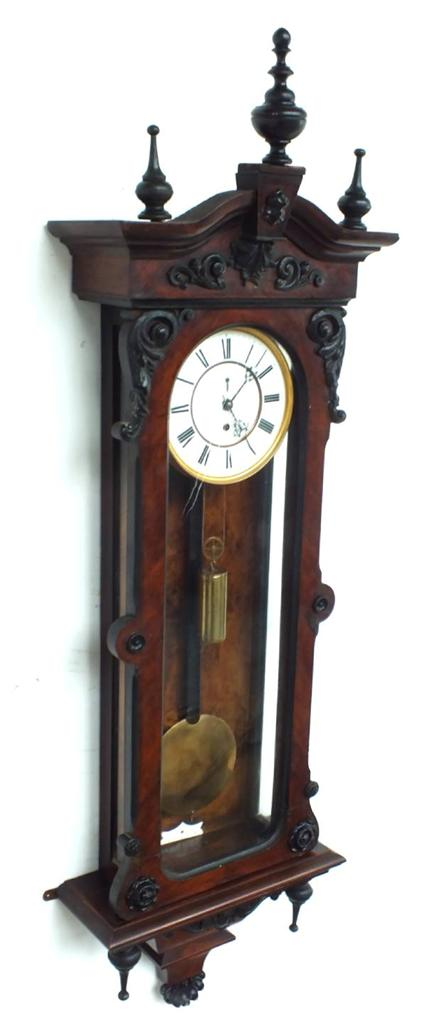 Walnut Regulator Wall Clock