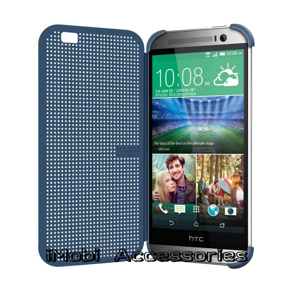 Matrix Dot View Smart Flip Case Cover For HTC One (M8)
