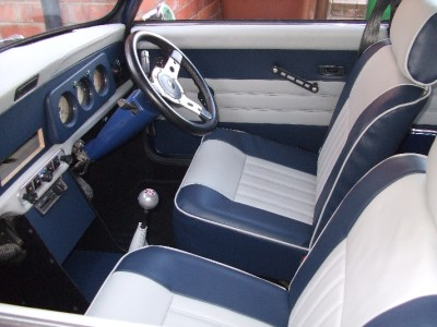 Classic Mini Interior Single Post Headrest Seats