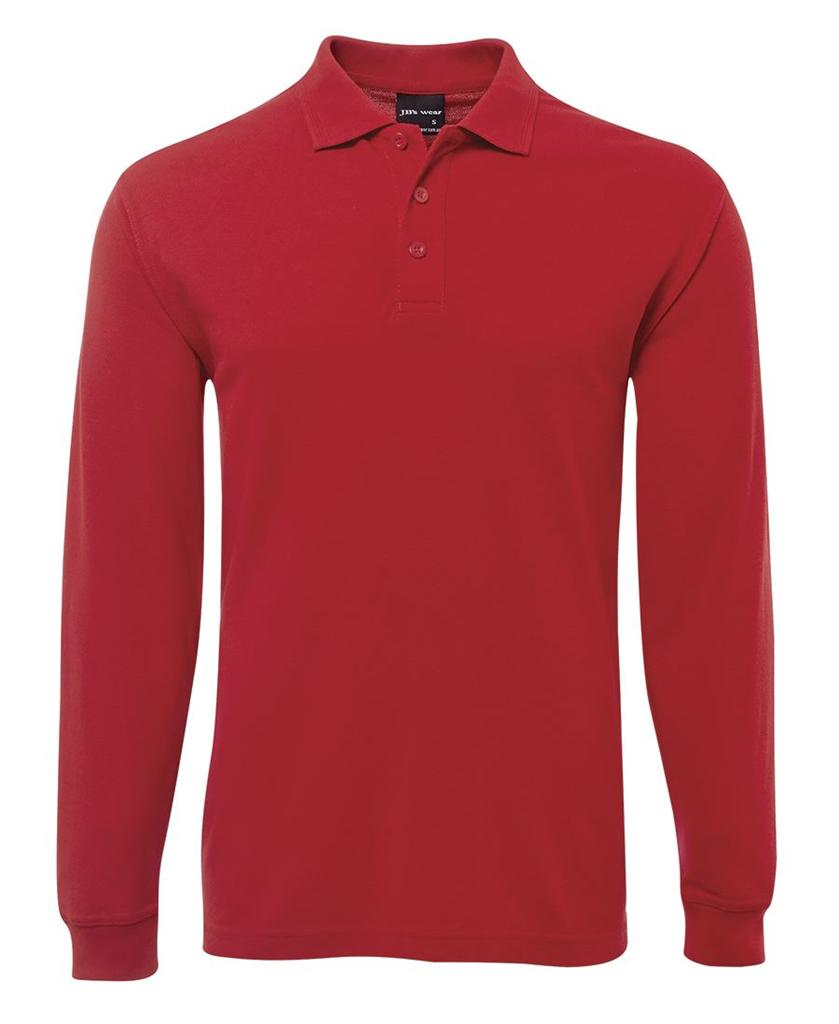 Men 39 s long sleeve 210 polo shirt adults top 7 colours size for Longer length mens polo shirts