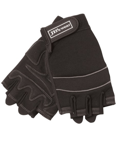 New-Mechanics-Fingerless-Gloves-Synthetic-Leather-Work-Protection-Safety-5-Sizes
