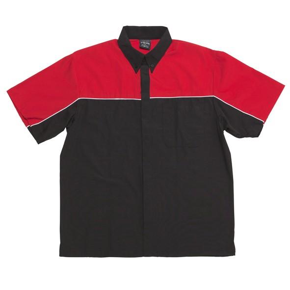 Mens moto shirt mechanic auto club top work shop short for Custom car club shirts