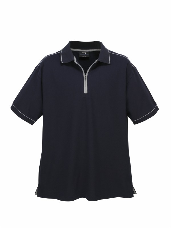 Mens heritage polo shirt business corporate casual office for Business casual polo shirt