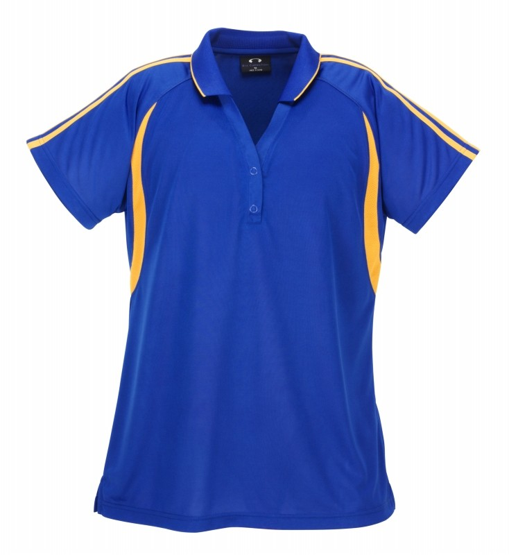 Ladies-Flash-Polo-Shirt-Cool-Breathable-Jersey-Gym-Top-Womens-Size-18-24-P3025