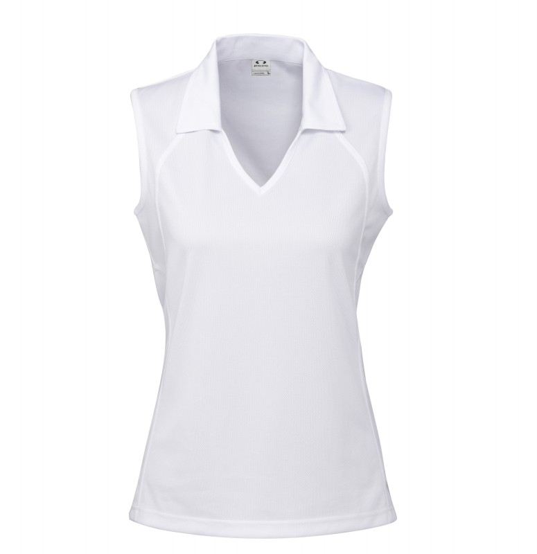 Ladies-Sleeveless-Polo-Shirt-Top-Sports-Mesh-Size-8-10-12-14-16-18-20-Womens-New