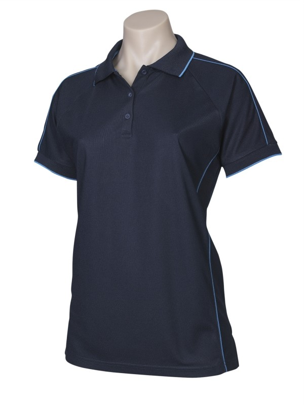 Ladies resort style polo shirt top office business casual for Business casual polo shirt