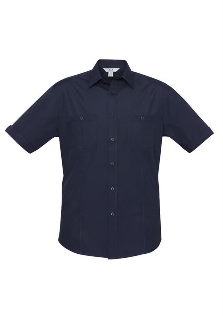 Mens Bondi Short Sleeve Shirt Pockets Business Casual
