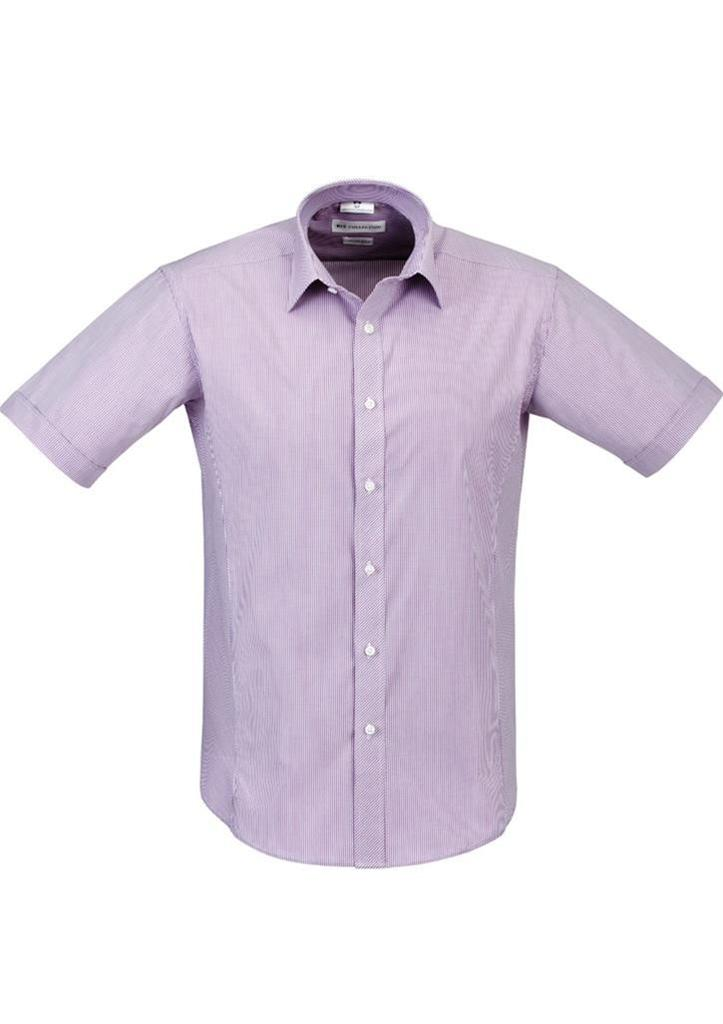 Mens berlin short sleeve shirt business dress top casual for Best business dress shirts