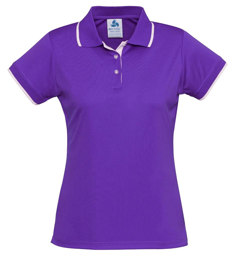 Ladies-Miami-Polo-Shirt-Top-Golf-Casual-Work-Contrast-Size-8-24-Sport-New-P402LS