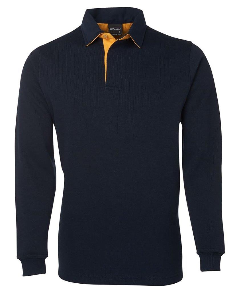 Mens 2 tone rugby top polo pullover shirt jumper cotton for Pull over shirts for mens