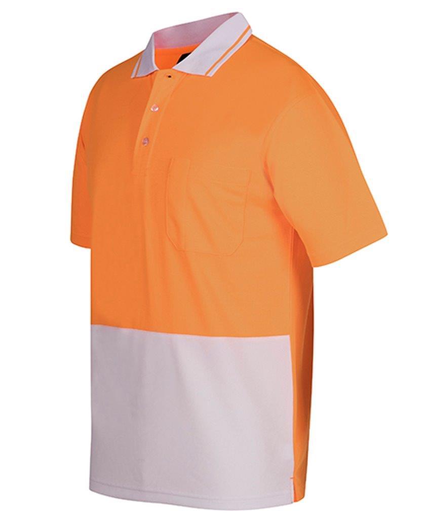 3 X Mens Hi Vis Non Cuff Polo Shirt Top Work Size Xs 9xl