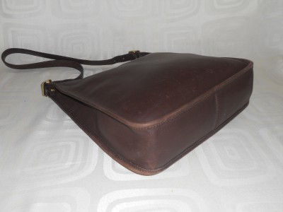 Coach 9073 Brown Leather Andrea Slim Tote Handbag Hobo Shoulder Bag US