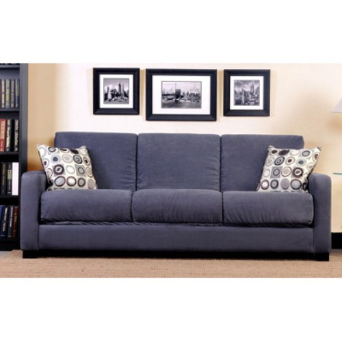 Handy living convert a couch microfiber full size sleeper for Sofa bed 3 2