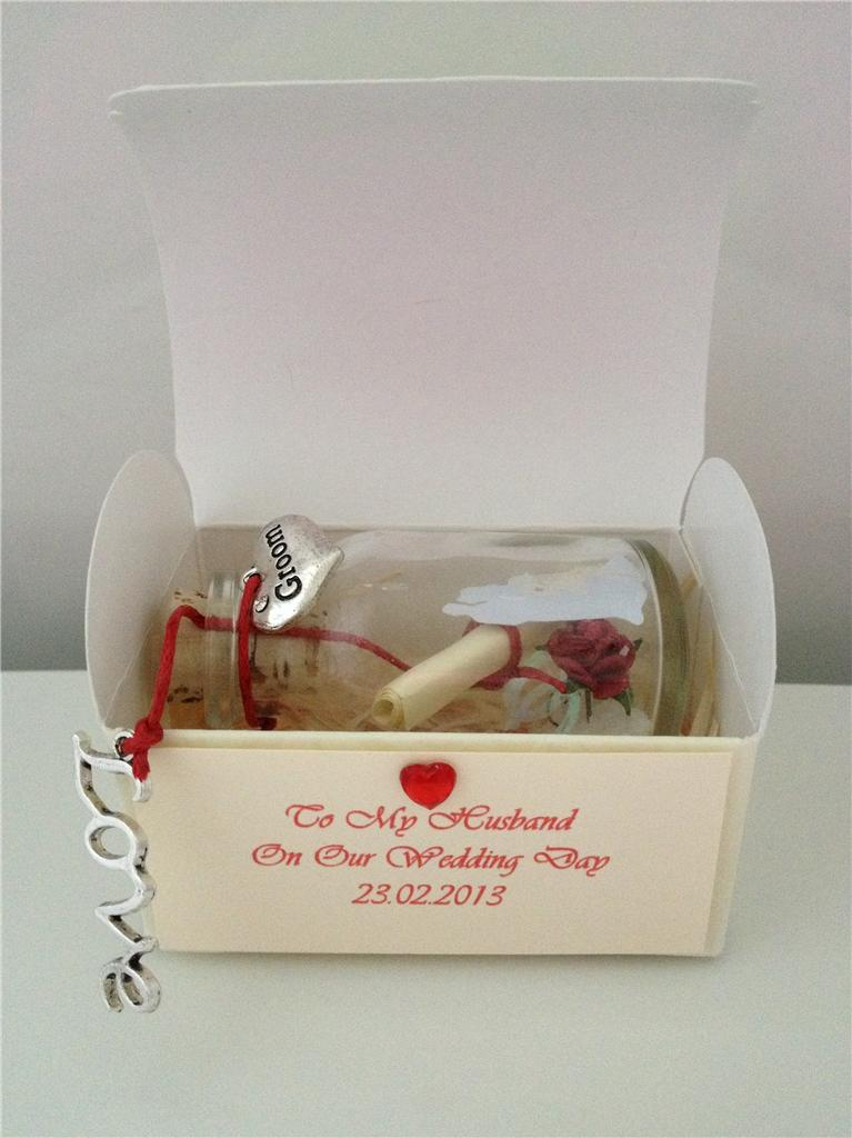 Wedding Gift Message For Husband : ... WEDDING DAY TO MY HUSBAND GROOM MESSAGE IN A BOTTLE POEM GIFT CARD