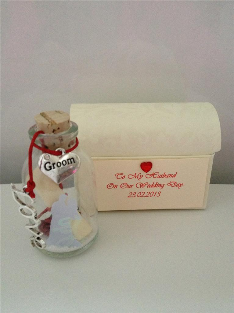 ... -WEDDING-DAY-TO-MY-HUSBAND-GROOM-MESSAGE-IN-A-BOTTLE-POEM-GIFT-CARD